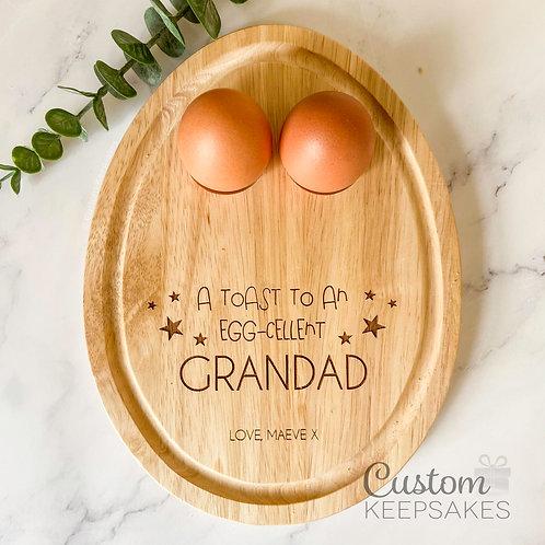 Personalised Egg Engraved Breakfast Board