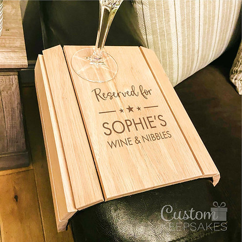 Personalised 'Reserved For' Sofa Board
