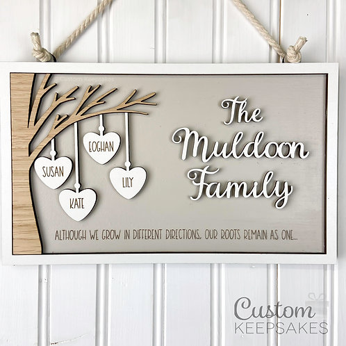 Personalised Family Tree Plaque