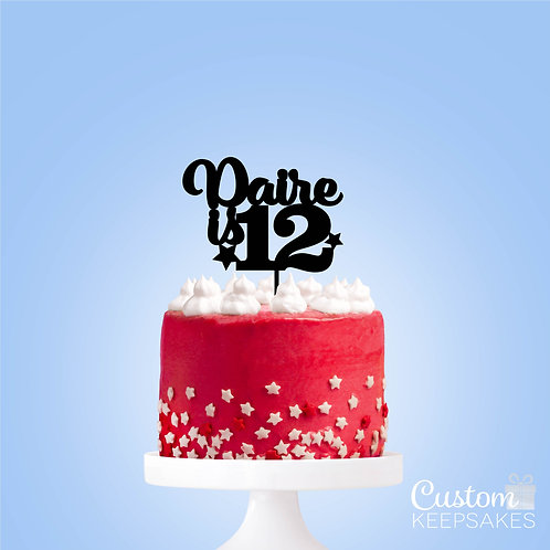 Personalised Age Acrylic Cake Topper