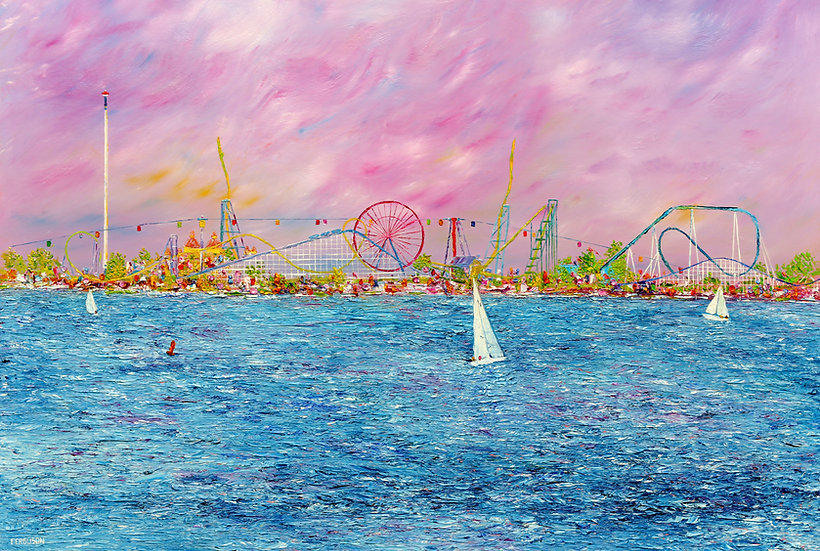 Sailing Past the Point - Evening Sky Giclee
