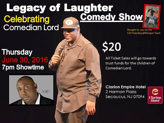 Legacy of Laughter: Comedian Lord Tribute