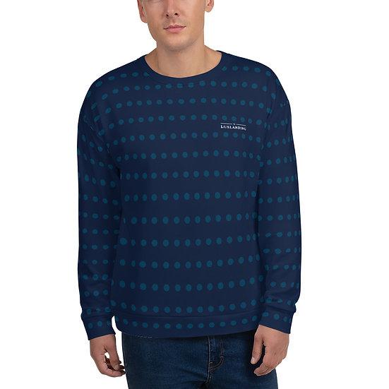 Navy Blue Dot Unisex Sweatshirt