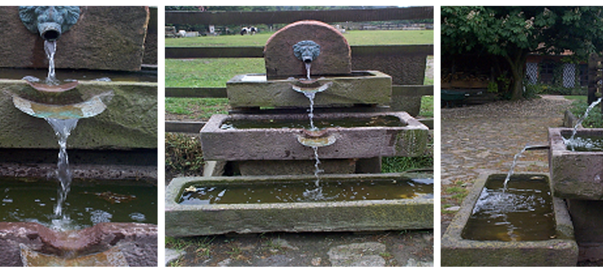 Wasserspiel aus historischem Sandstein