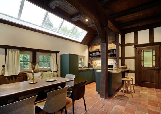 Ferienhaus-Waldhaus-Ankum-Küche-Essbereich