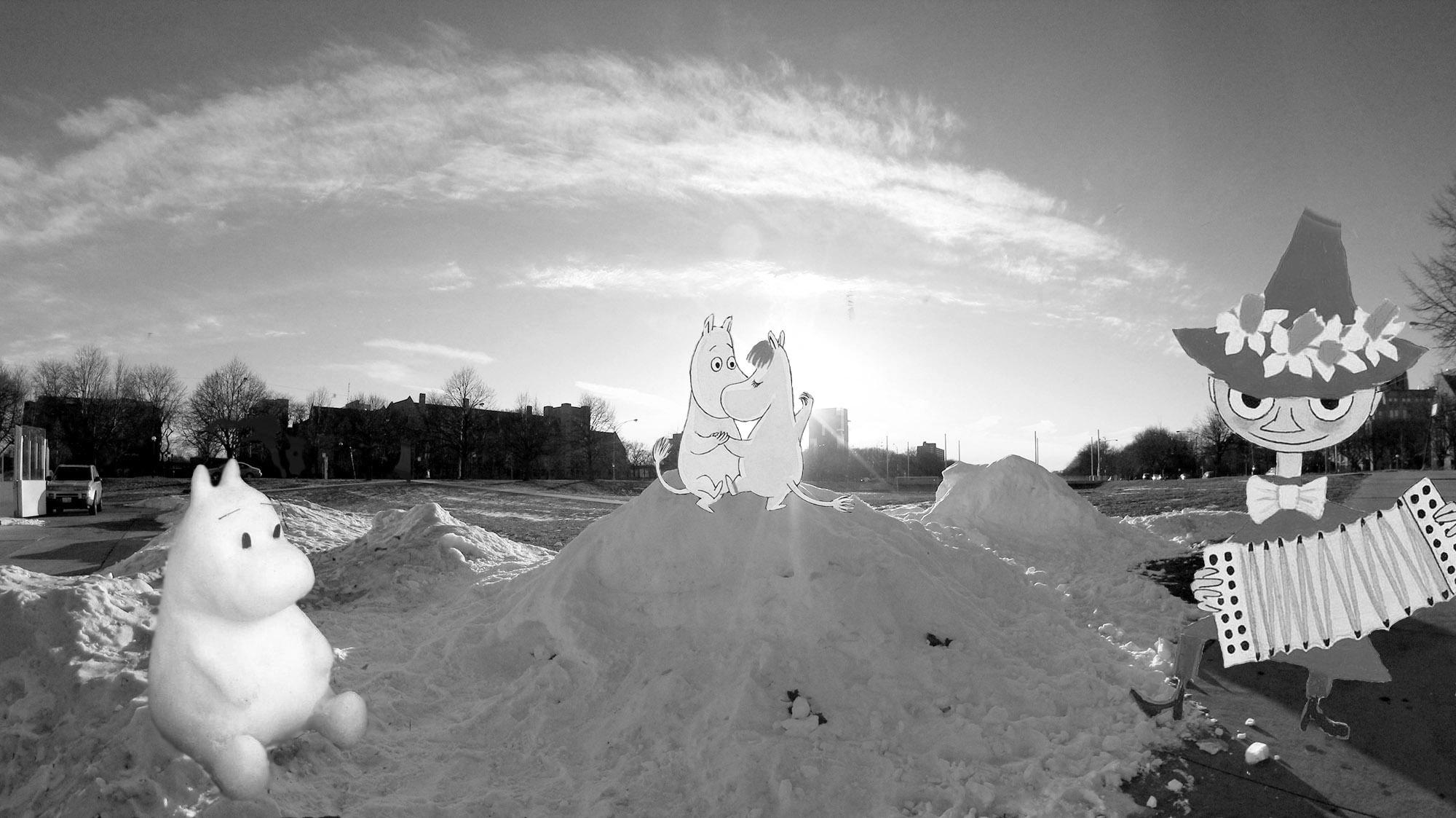 6midway雪人bw