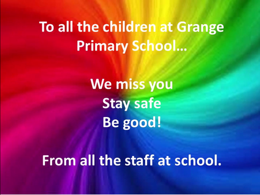 Hello from all of the teachers and staff at Grange!