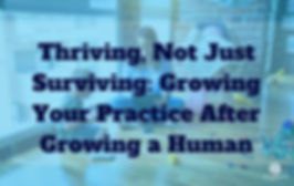 Episode 167 Thriving not just surviving- Growing your practice after growing a human