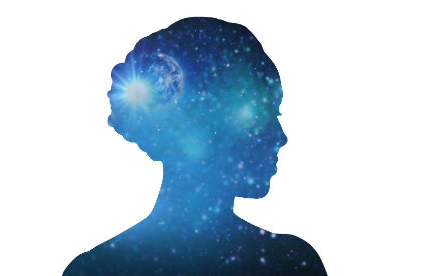 Woman experiencing the 10 psychic senses