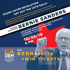 California Democratic Party Bernie Sanders Lecture Poster