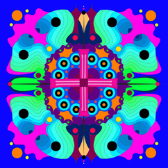 Psychedelic Pool Toys Illustration