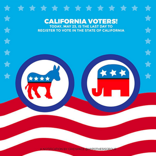 California Voter Registration Illustrati