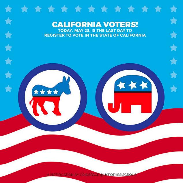 California Voter Registration Illustrati