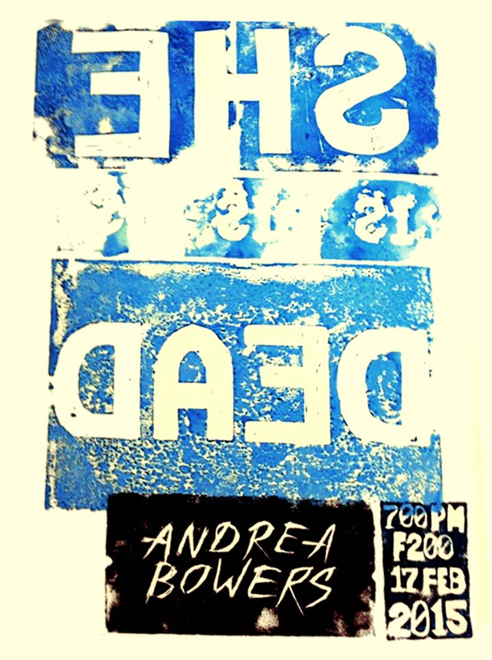Andrea Bowers Design Lecture Poster