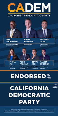 California Democratic Party Endorsement Slate