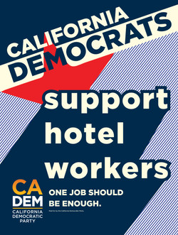 California Democratic Party Bus Tour