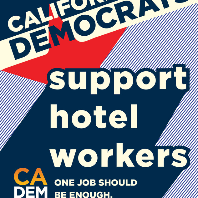 California Democratic Party Bus Tour Pos