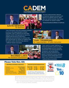 California Democratic Party Mailer