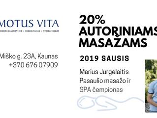 Autoriniams masažams - 20% nuolaida