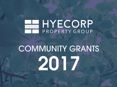 HYECORP PROPERTY GROUP WILLOUGHBY COMMUNITY GRANTS 2017