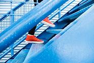 Chaussures de course rouges