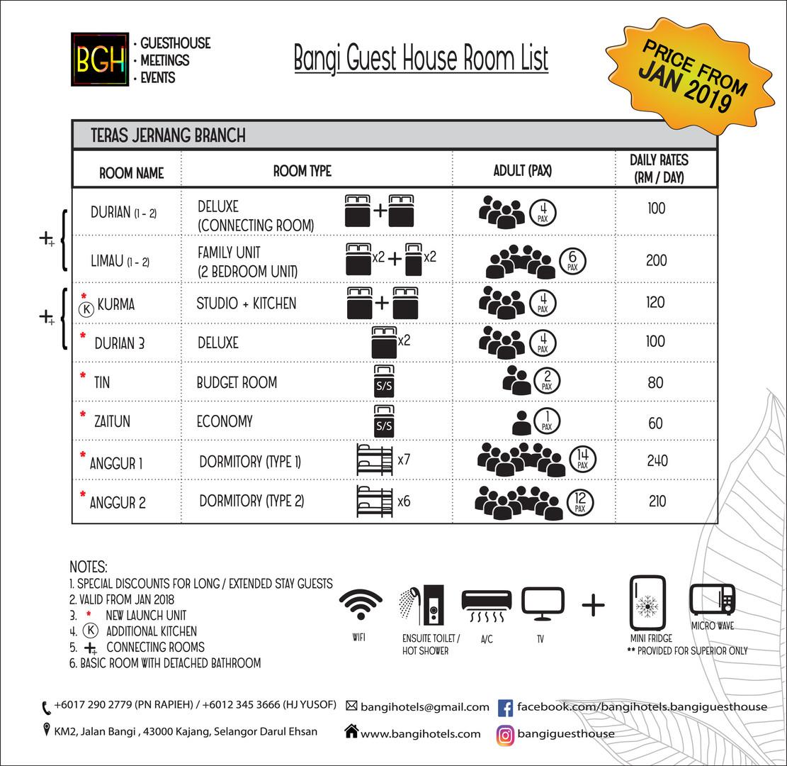 List of Room-Price-frm Jan 2019-Teras Je