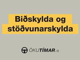 Nýtt myndband: Biðskylda og stöðvunarskylda