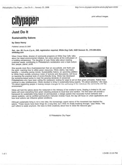 Philadelphia City Paper, January 23, 2008