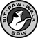 Sit, Paw, Walk black and white logo