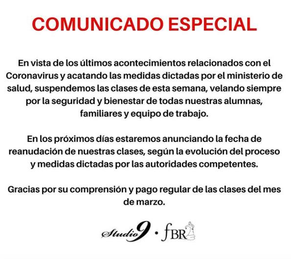 COMUNICADO ESPECIAL!