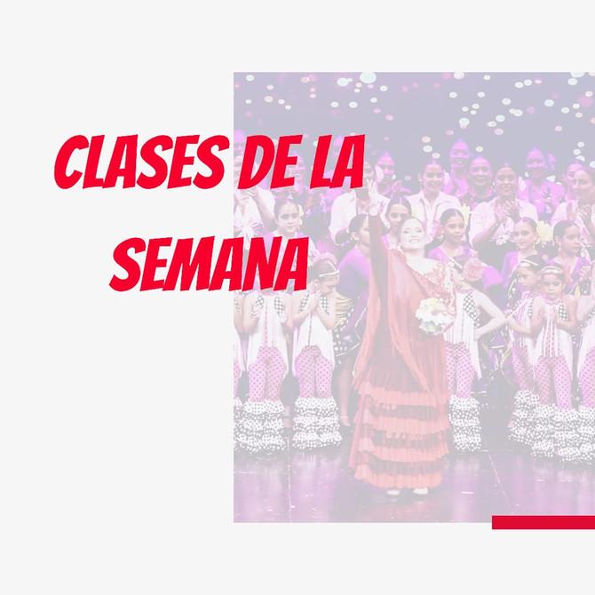 CLASES DE LA SEMANA