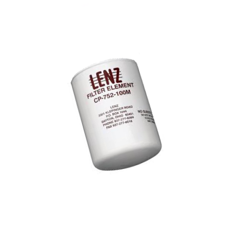 LENZ CP-752-100M Spin-On Oil Filter - Filter w/ LENZ Stamp
