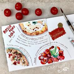 Youkki Art urban watercolor sketch food