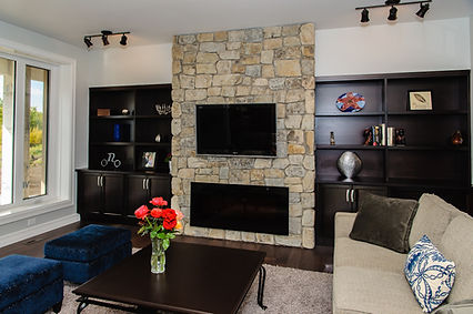 Feature wall in great room