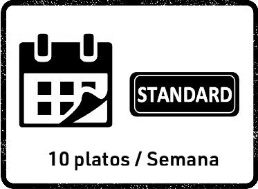 22 Feb Pack Mensual STANDARD (10 platos)