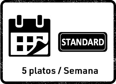 22 Feb Pack Mensual STANDARD (5 platos)