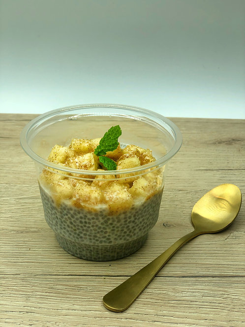 Chia pudding with coconut and pineapple