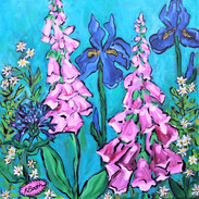 Garden View Acrylic Painting