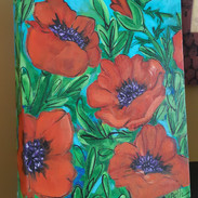 Red Poppies Standing Canvas