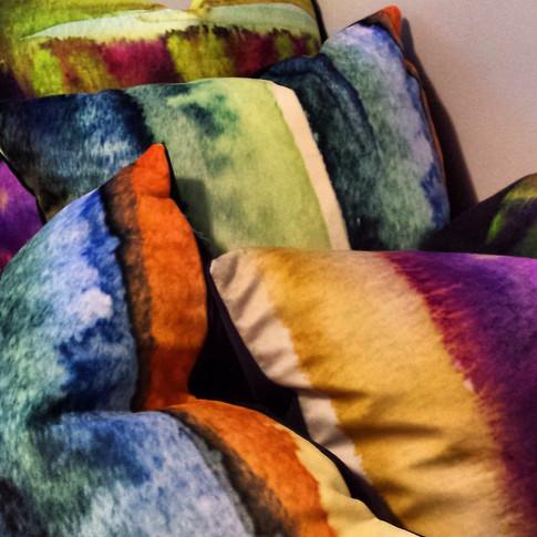 Velveteen Cushions
