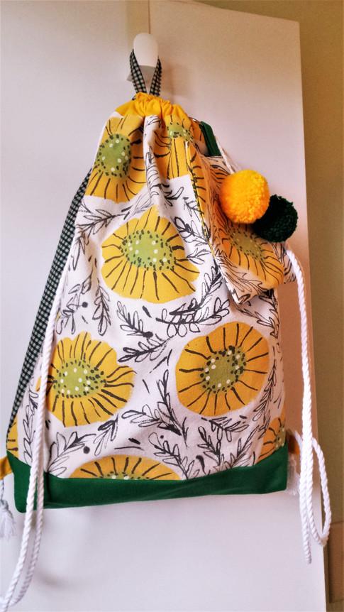 Yellow Poppy Back Tote