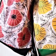 Handpainted Floral Cotton Backpacks with bonus Wallet