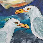 Seagulls on the Coast