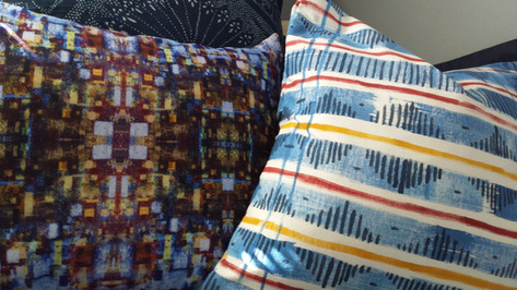 Handpanted & Digital Cushions