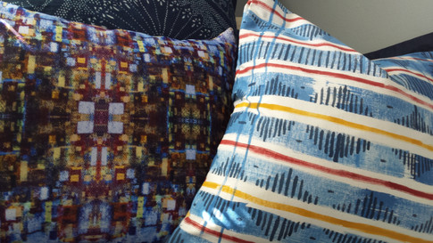 Handpanted & Digital Cushions