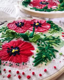 Poppy Embroidery