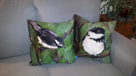 Chickadee Cushion Covers