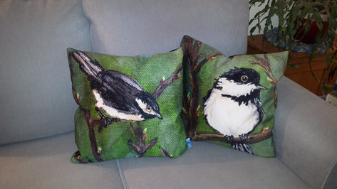 Chickadee Cushion Covers