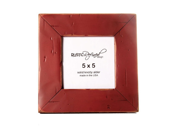 5x5 Cabin Picture Frame - Barn Red