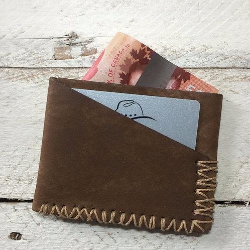 Slim Fold Hand Stitched Wallet